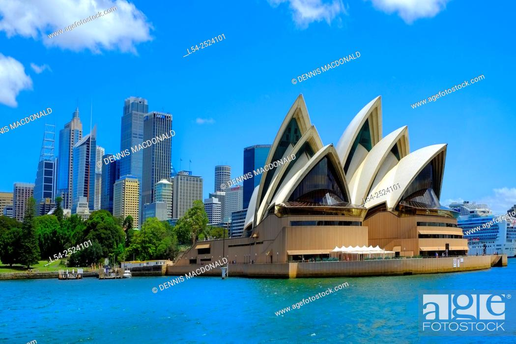 Stock Photo: Sydney Opera House Australia New South Wales AU.