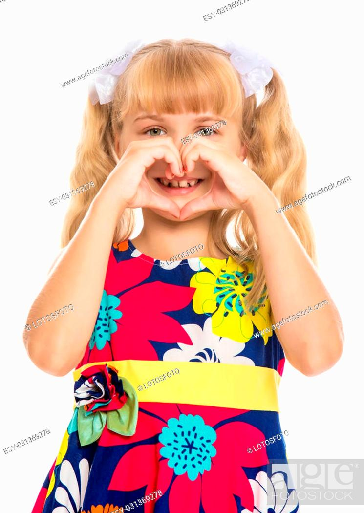 Strange Beautiful Little Girl With Long Blond Hair Braided In Ponytails Natural Hairstyles Runnerswayorg