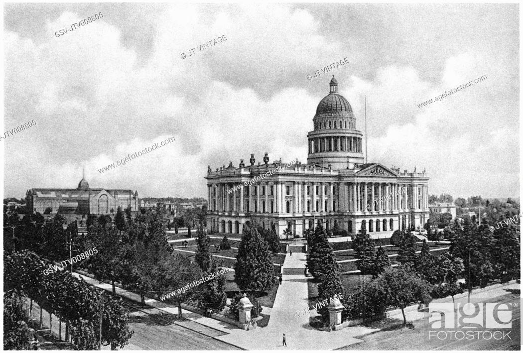 Imagen: architecture, capitol, Building, Sacramento, historical,.
