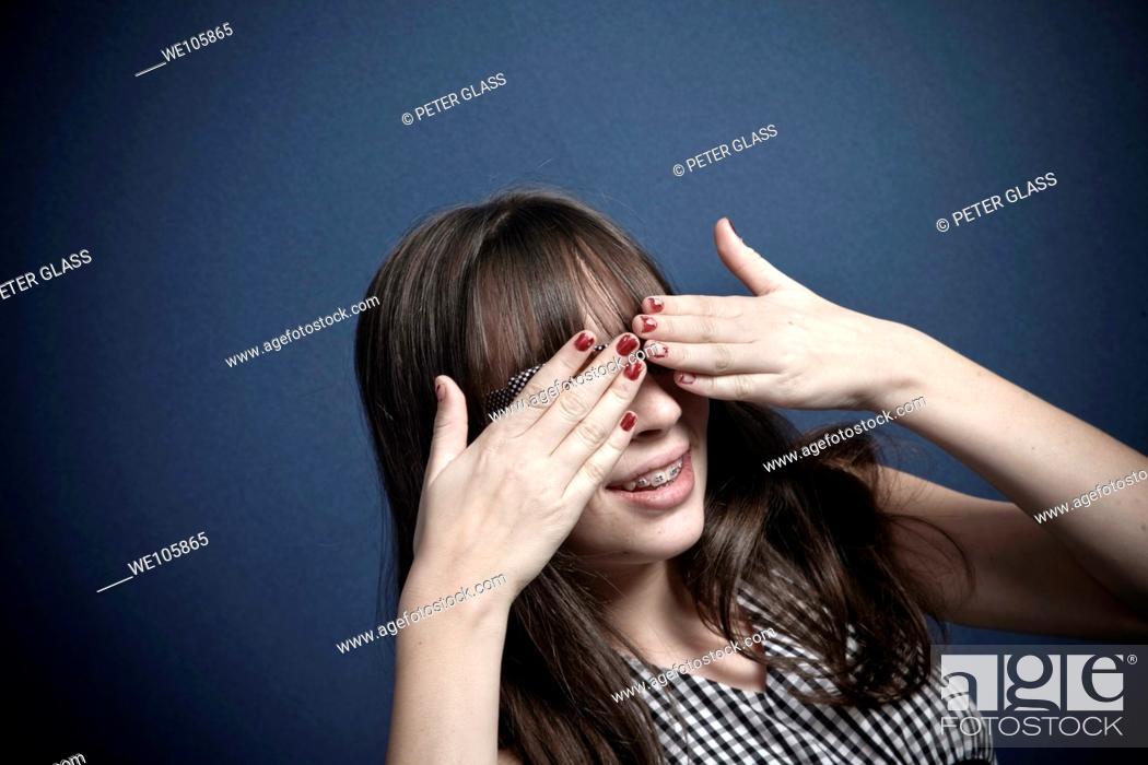 Stock Photo: Preteen girl posing.