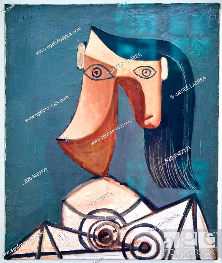 """Stock Photo: """"Head of a Woman"""", 1939, Pablo Picasso, Picasso Museum, Paris, France, Europe."""