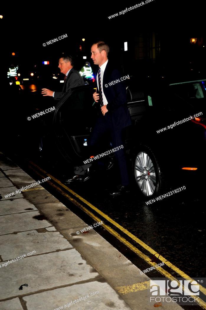 Prince William, Duke of Cambridge arrives at HSBC St James Street