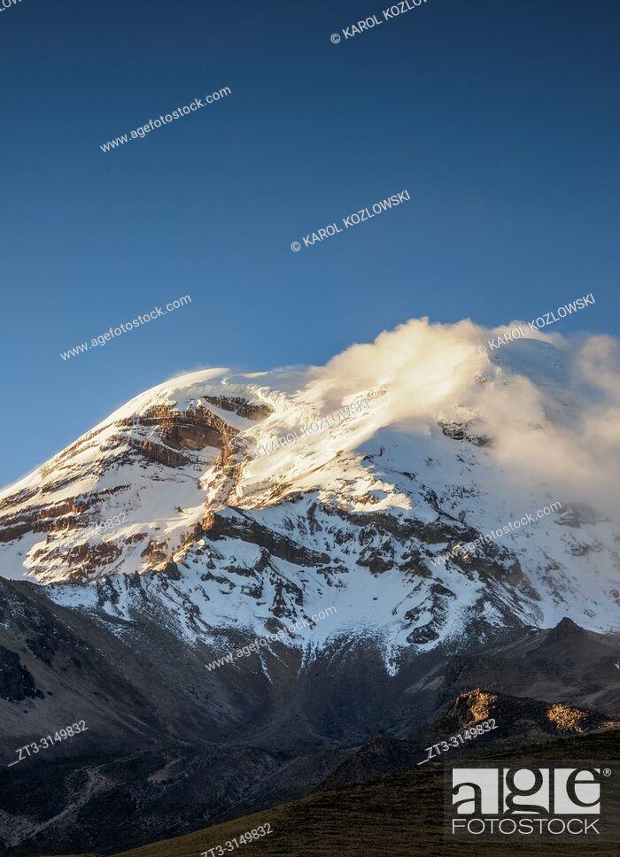 Imagen: Chimborazo Volcano, Chimborazo Province, Ecuador.