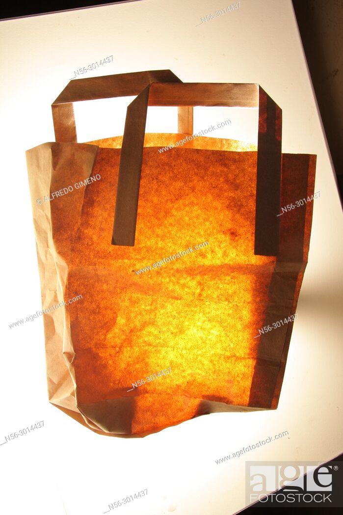 Stock Photo: shopping paper bag.