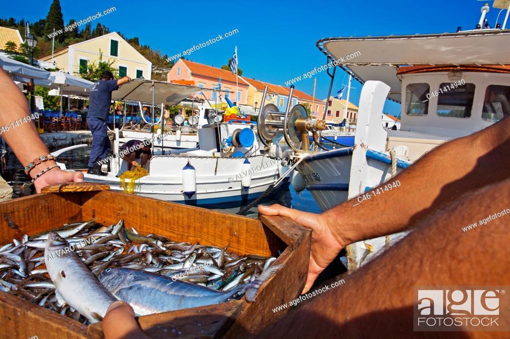 Stock Photo: Fiskardo Harbour, Kefalonia, Greece.