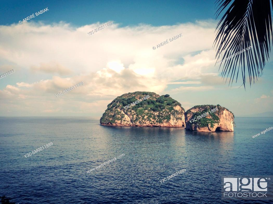 Stock Photo: Los Arcos National Marine Park, Banderas Bay, Mexico.