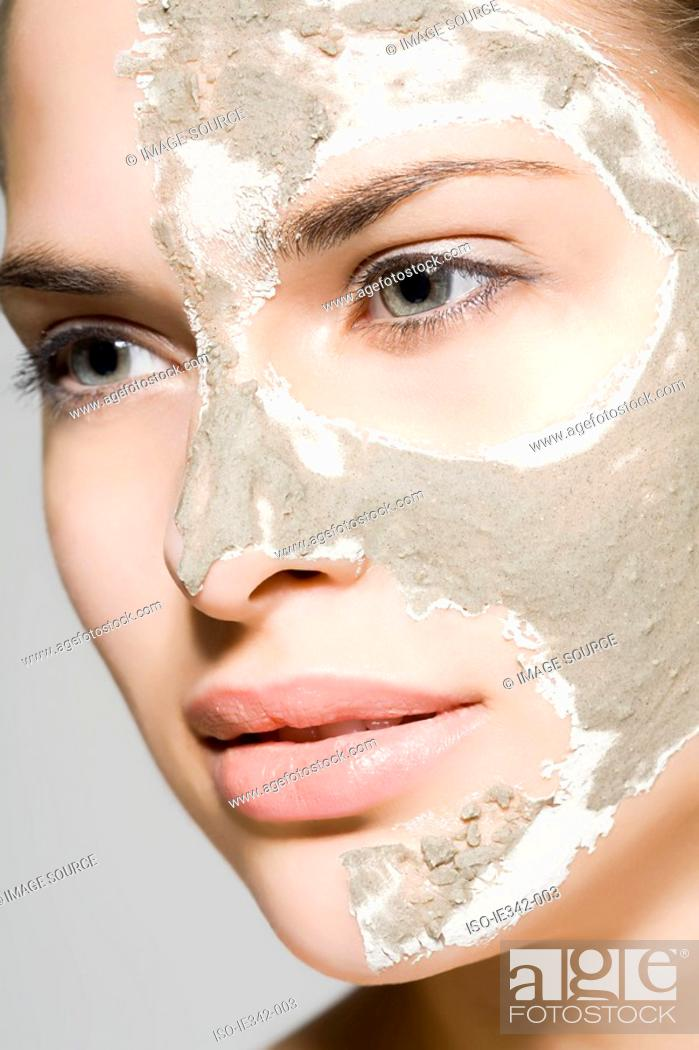 Stock Photo: Woman with mask on her face.