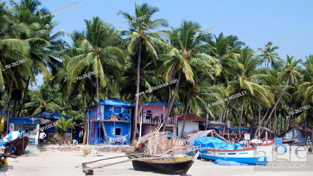 Stock Photo: Palolem beach Goa India.