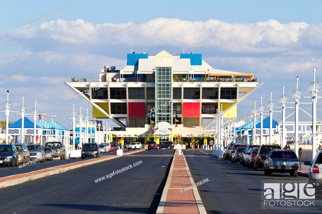 Stock Photo The St Petersburg Pier Contains An Aquarium S And Restaurants In Downtown Fl