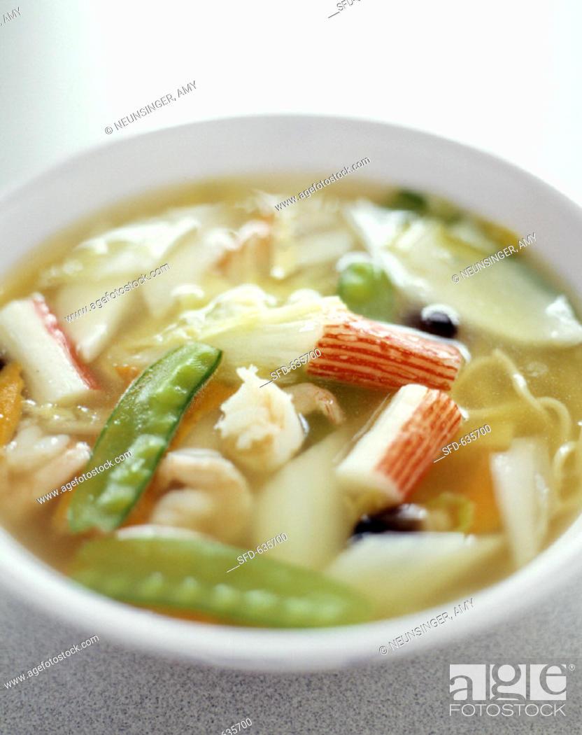 Stock Photo: Asian Seafood Soup.