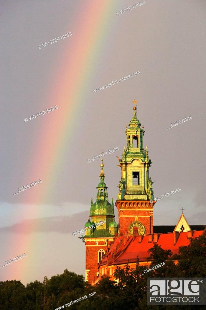Stock Photo: Wawel Hill and Castle,Wawel Cathedral,Cracow, Krakow,Poland.