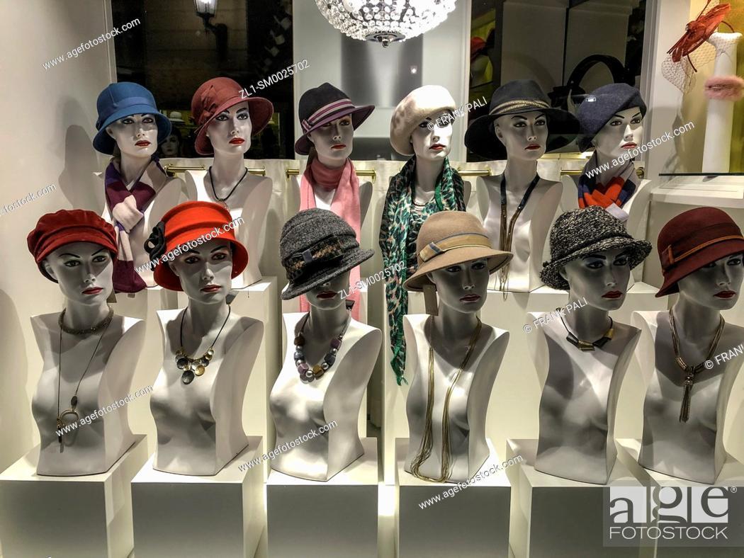 Stock Photo: Hat shop on Passau Germany.