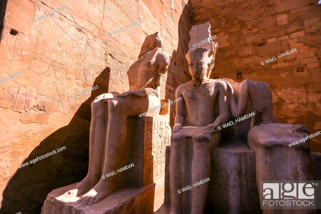 Stock Photo: Temple of Luxor, Luxor city, Egypt.