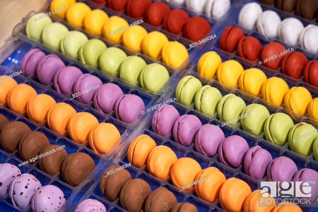 Stock Photo: Pastry, cupcakes, Donostia, San Sebastian, Gipuzkoa, Basque Country, Spain, Europe.