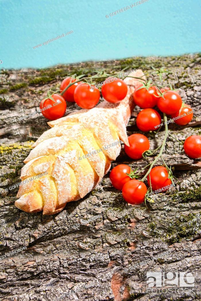 Stock Photo: Italian food for Mediterranean healthy diet.