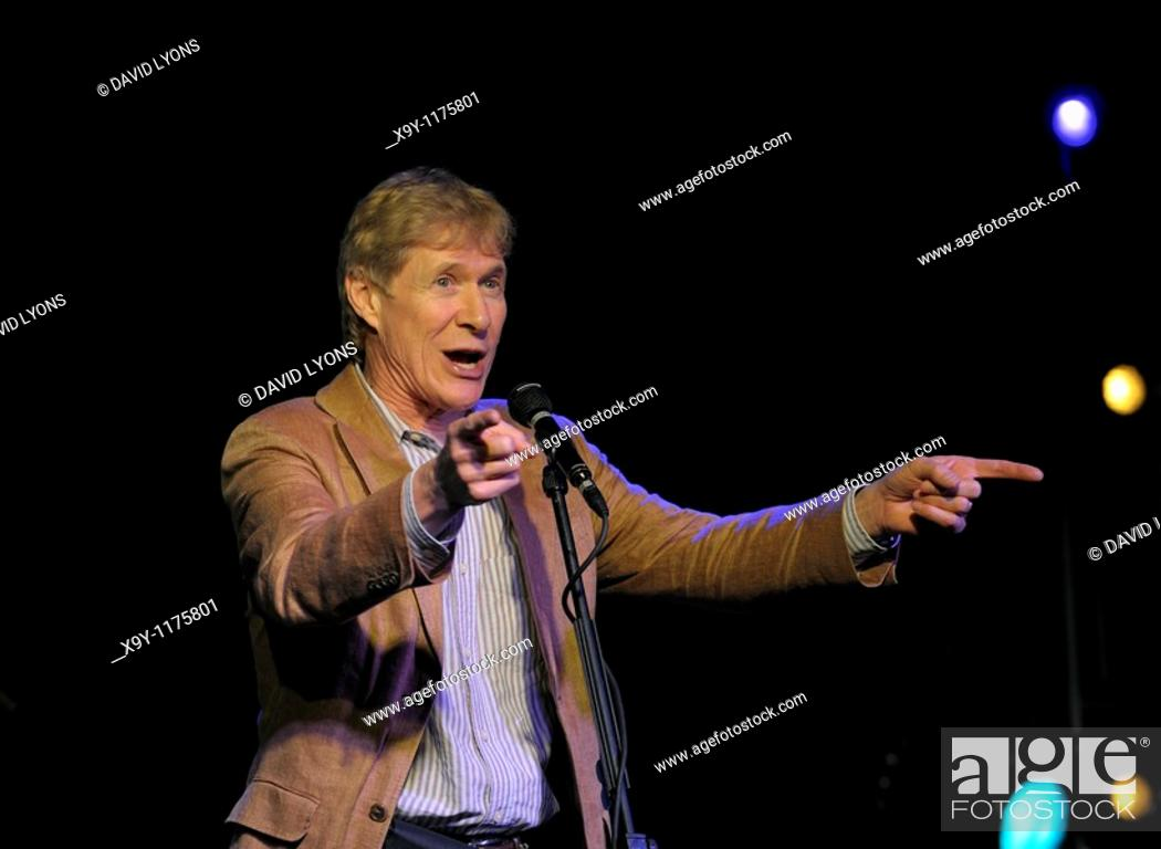 Stock Photo: Paul Jones, singer and presenter of BBC Radio 2 Blues Show on stage at Maryport Blues Festival, 2010  Cumbria, England.