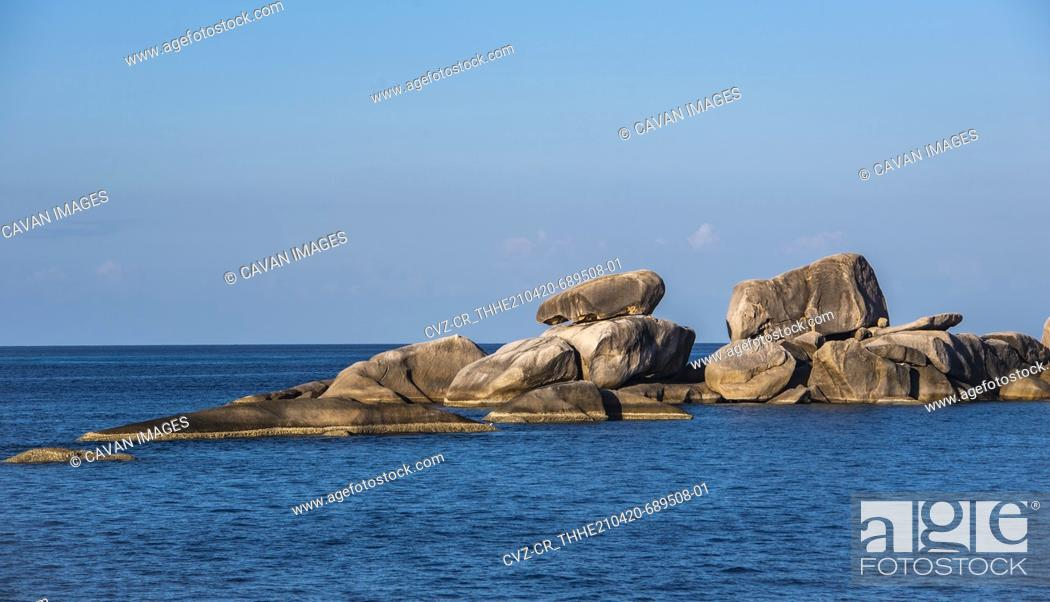 Stock Photo: rocky coastline at the Similan Islands in Thailand.