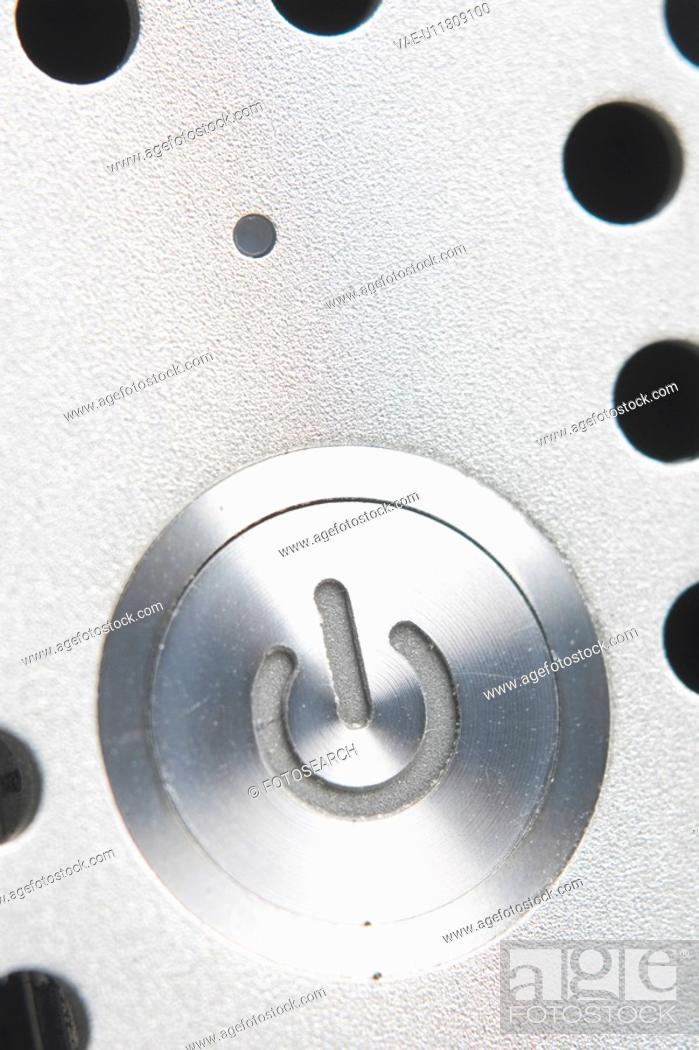Stock Photo: Black And White, Close-Up, Computer Equipment, Computer Part, Hole, Indoors.