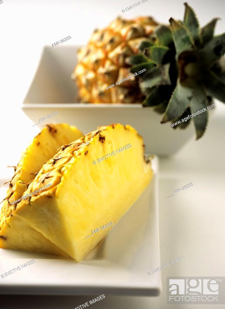 Stock Photo: Pineapple Ananas comosus.