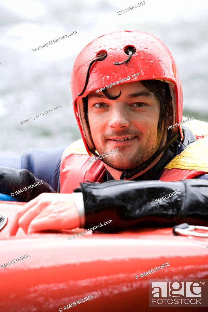 Stock Photo: Male kayaker.