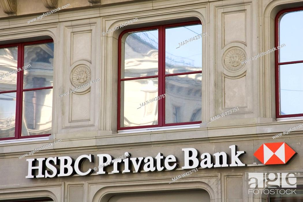 europe, switzerland, zurich, hsbc private bank, Stock Photo, Picture