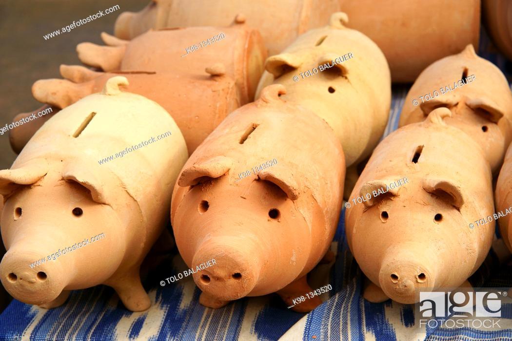 Stock Photo: Crafts in clay Marratxi Majorca, Balearic Islands, Spain.