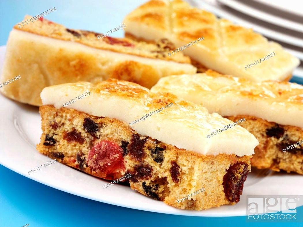 Stock Photo: Easter Simnel Cake Slices.