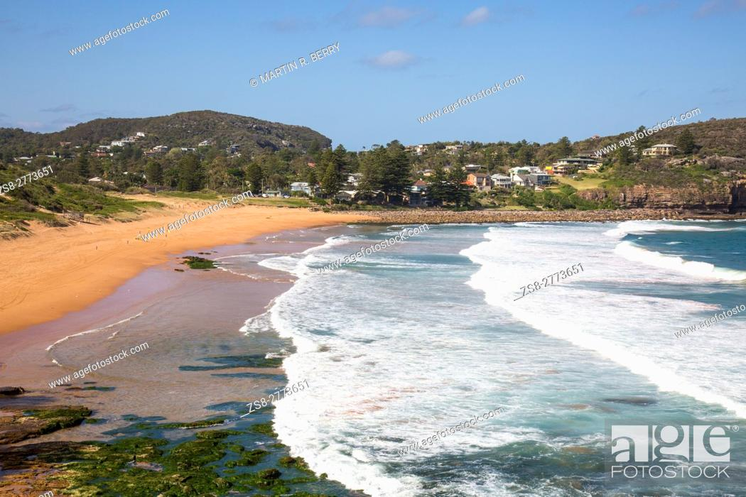 Stock Photo Avalon Beach Sydney One Of The Famous Northern Beaches In