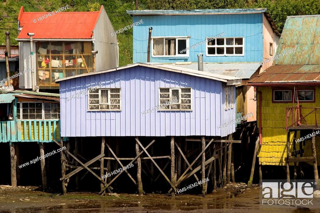 Nice Stock Photo   Chile, Los Lagos Region, Chiloé Island, Castro, Les  Palafitos, Fishermen Houses On Stilts