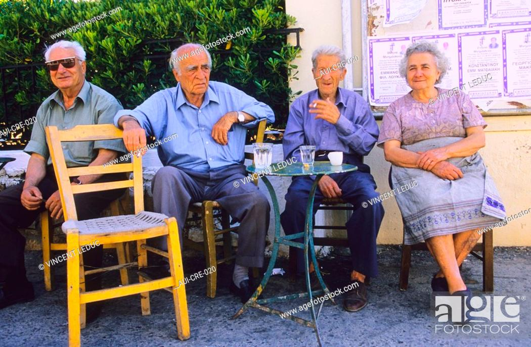 Stock Photo: Greece - Crete - Kafénion - Elounda.