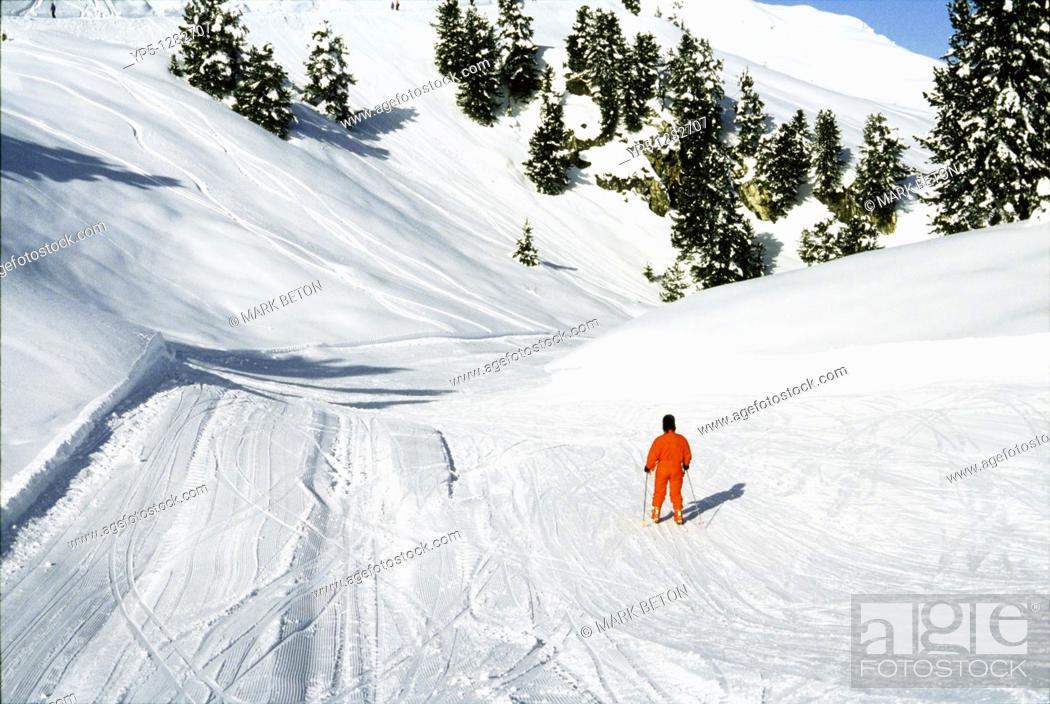 Stock Photo: Cross country ski piste near Mayrhofen Austria.