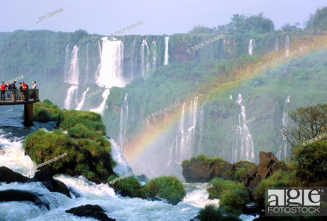 Stock Photo: Brazil, Parana state, Iguazu Falls,.
