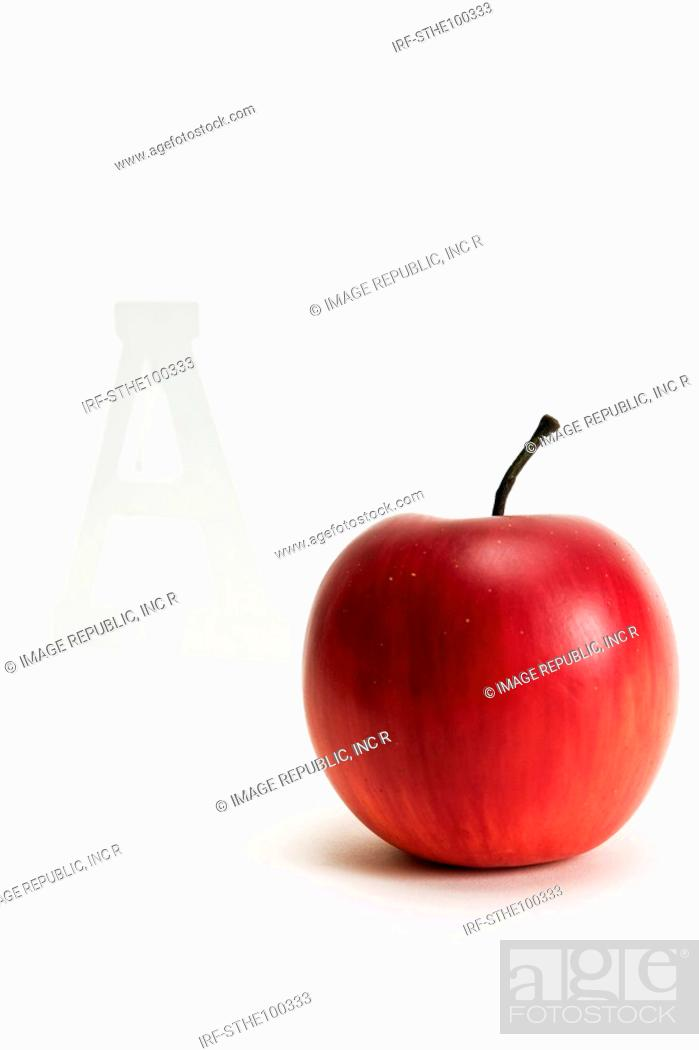 Stock Photo: apple and A.