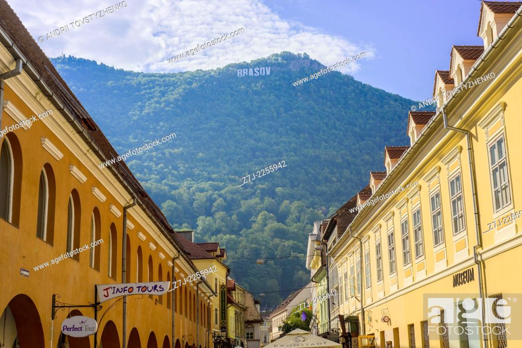 Stock Photo: main square in Brasov, Romania.