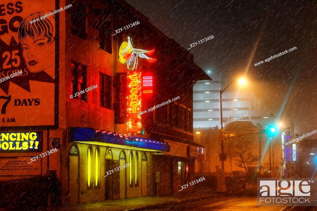 Stock Photo: Strip club, Atlantic City, New Jersey, NJ, USA.