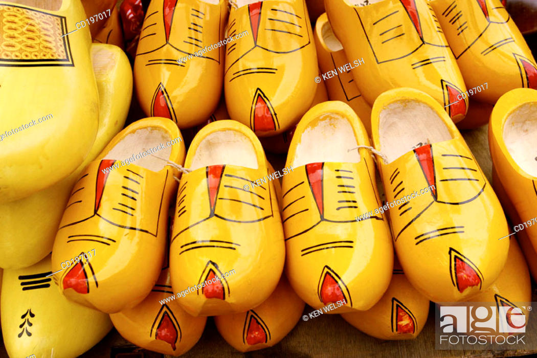 Stock Photo: Clogs. Amsterdam. Holland.