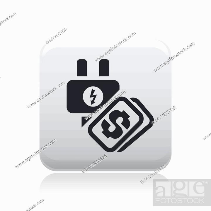 Stock Vector: Vector illustration of single energy price icon.