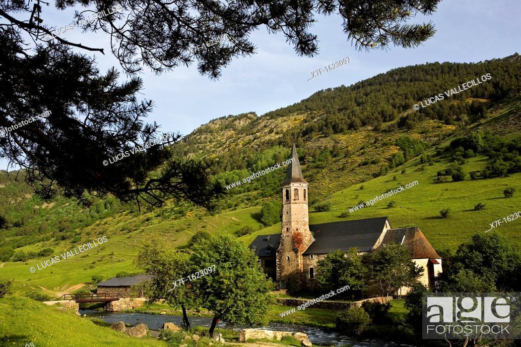 Stock Photo: Montgarri Sanctuary, Aran Valley, Pyrenees, Lleida province, Catalonia, Spain.