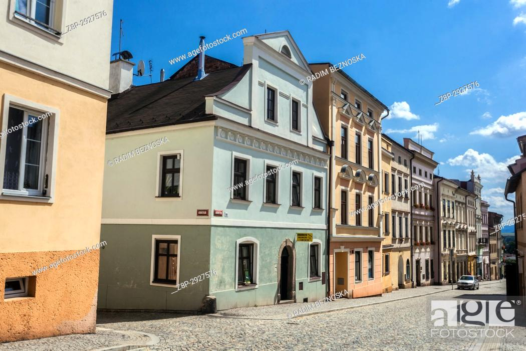 Stock Photo: Broumov, Czech Republic, street of Old Town.