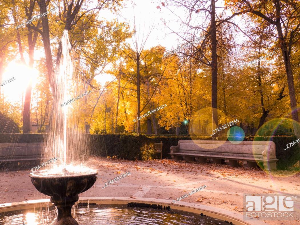 Stock Photo: Jardines de Aranjuez. Madrid. España.