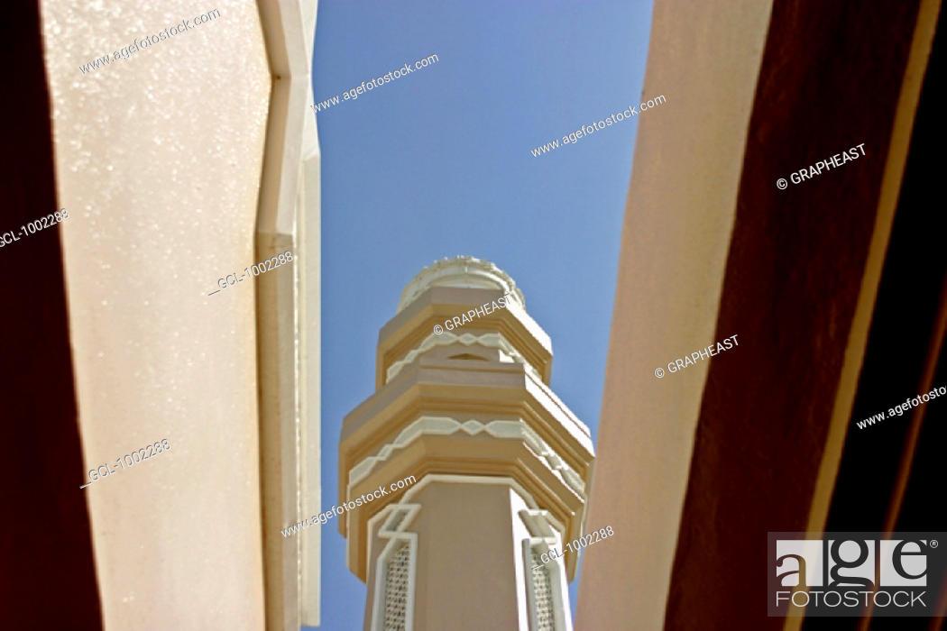 Stock Photo: Mosque in Nad al Sheba near Dubai, United Arab Emirates.