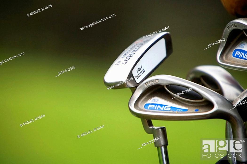 Stock Photo: Golf Sticks.