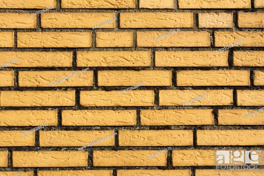 Stock Photo: Brick, Close-Up, Brown, Brick Wall, Arrangement.