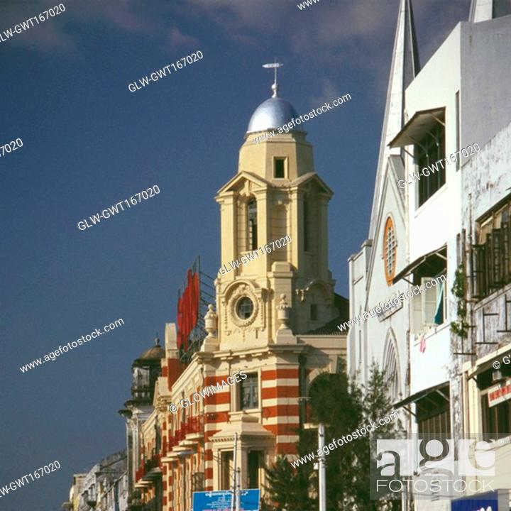 Stock Photo: Low angle view of buildings, Yangon, Myanmar.