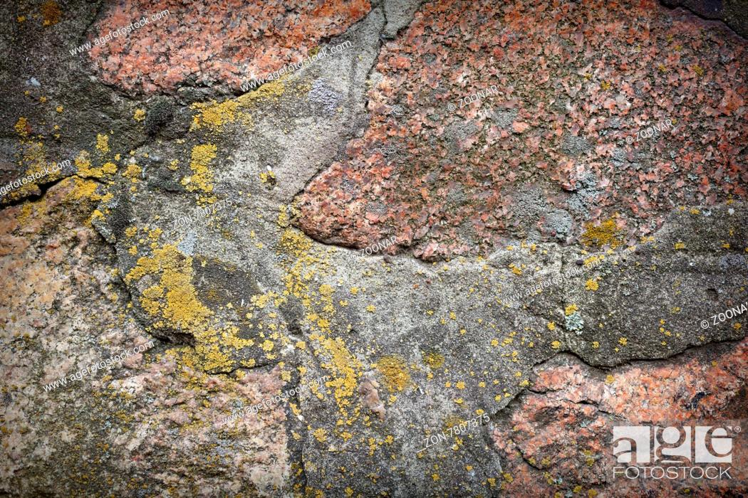 Stock Photo: Wall. Natural granite stone texture background. Rough and rusty.