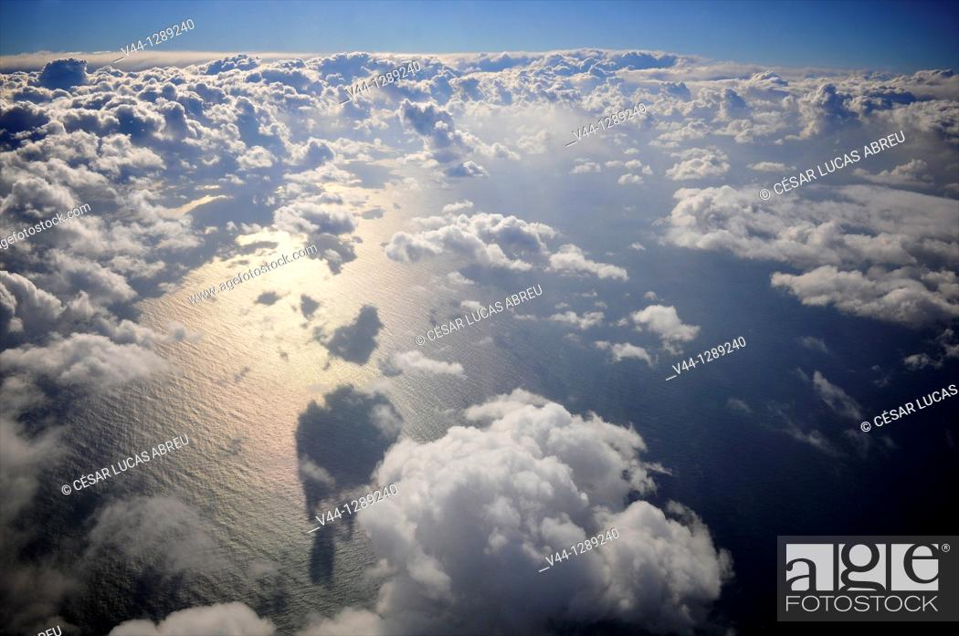 Stock Photo: Clouds over the Mediterranean.