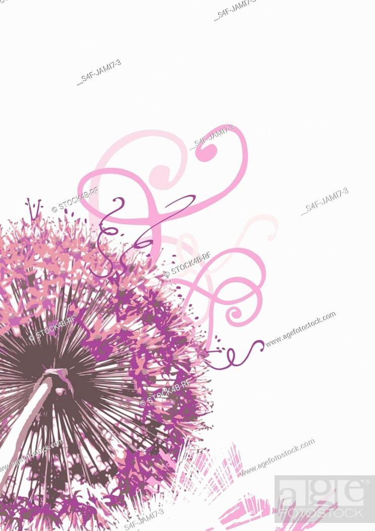 Stock Photo: Illustration of a purple flower.