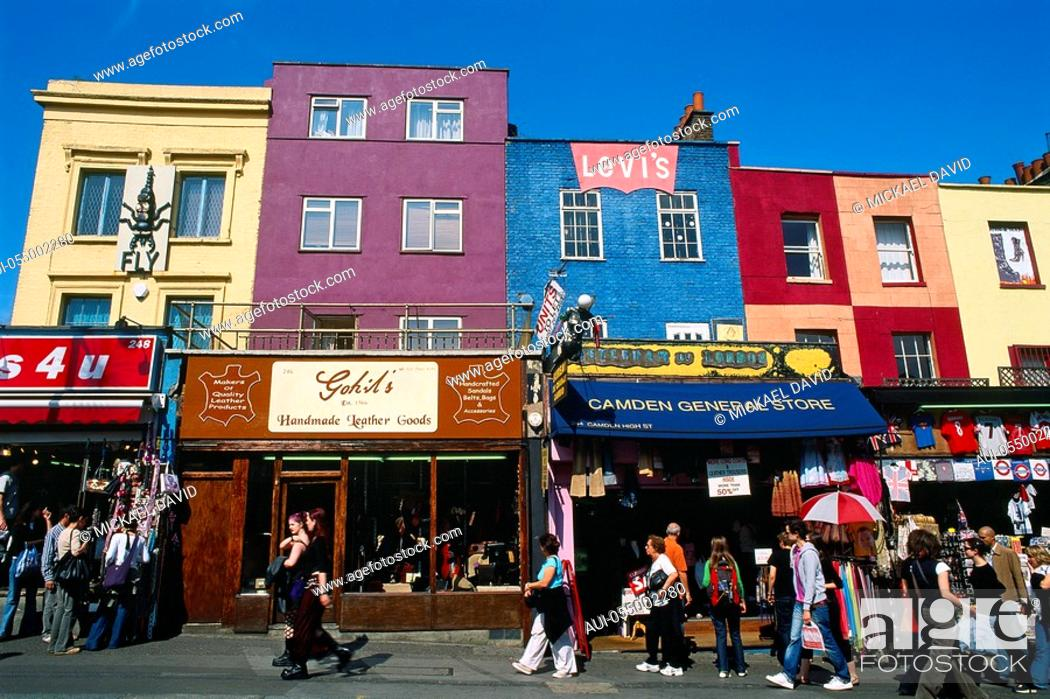 Stock Photo: England - London - Camden Town district and Camden Lock Market.