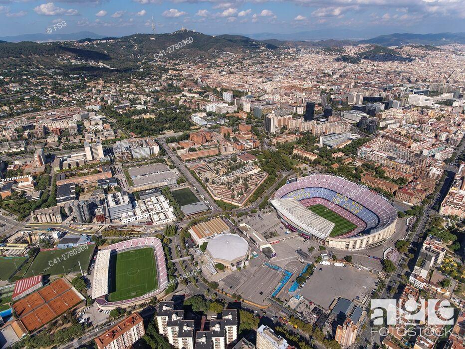 Stock Photo: Sports facilities of Football Club Barcelona. Camp Nou.