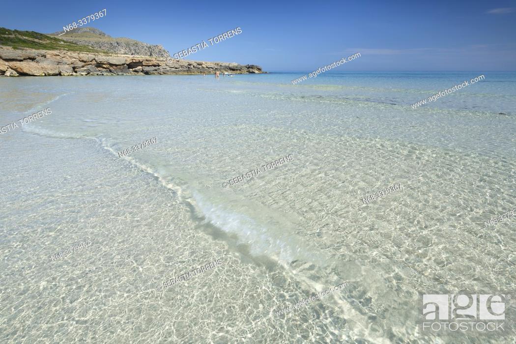 Stock Photo: Platja de Sa Font Salada, beach of the coast of Artà, Majorca, Spain.
